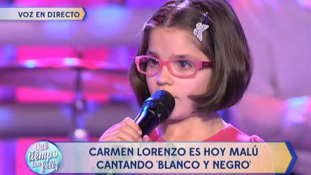 Carmen Lorenzo, la benjamina de 'La Voz Kids', enamora al jurando imitando a Malú