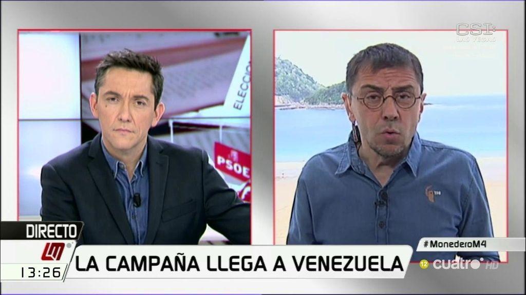 """Monedero, sobre la visita de Albert Rivera a Venezuela: """"Ha ido a ver si saca votos"""""""