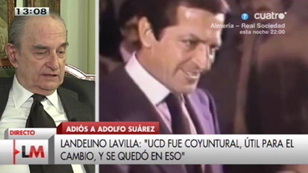 """Landelino Lavilla, sobre Suárez: """"No le dejé caer ni le di la espalda"""""""