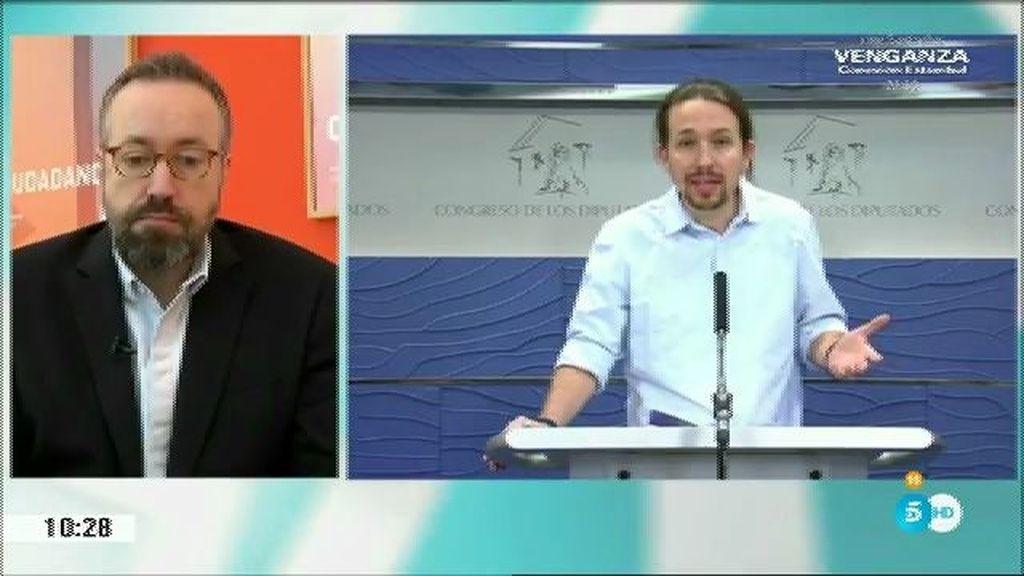 """Iglesias: """"Un gobierno que implicara el apoyo de Podemos y C's no es posible"""""""
