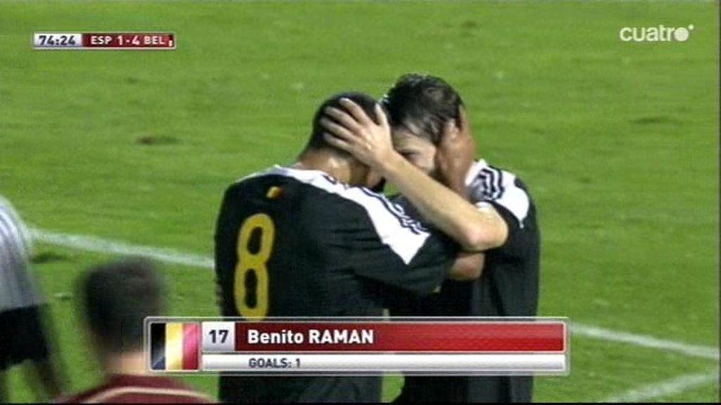 Raman marca otro golazo para Bélgica frente a una España desecha (1-4)
