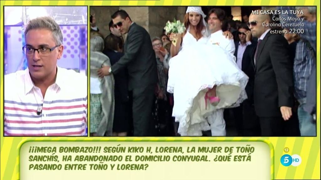 Bombazo: Según Kiko H, la mujer de Sanchís ha abandonado el domicilio conyugal