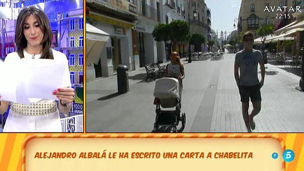 """Alejandro Albalá, a Chabelita: """"Los demás no sé, pero yo te esperaré"""""""