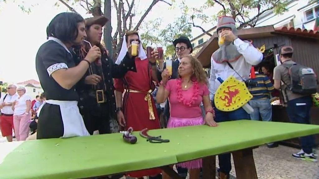 Los caballeros y Sira lo dan todo en el carnaval de Madeira
