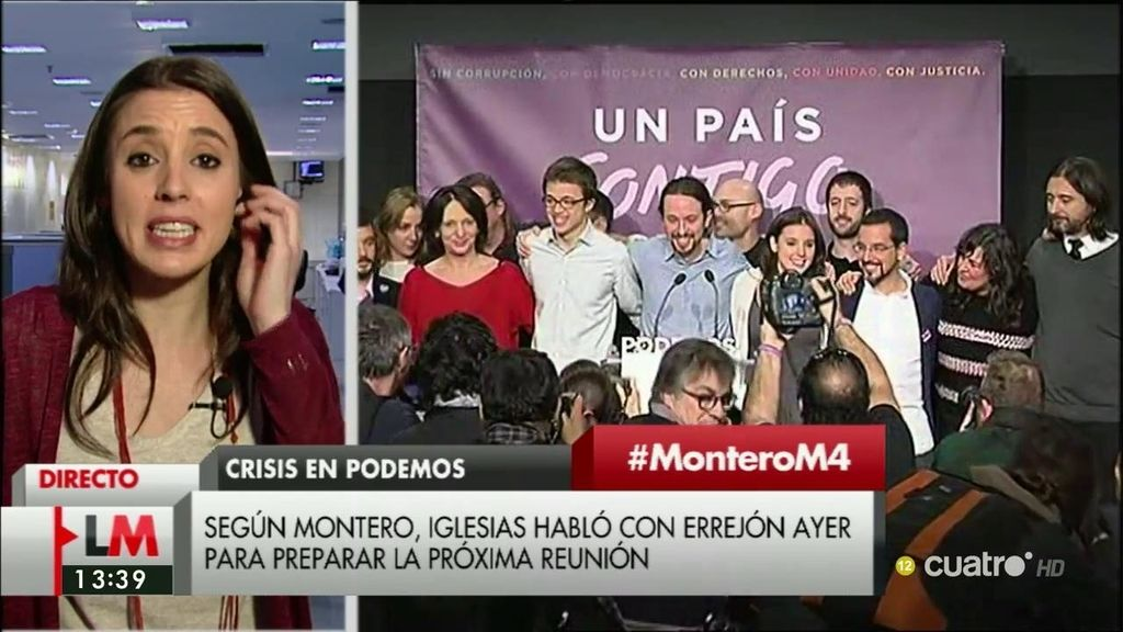 """I. Montero, sobre Podemos: """"Hablar de palabras como 'purga' o 'crisis' no responde a lo que está pasando"""""""