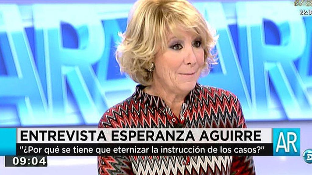 """Aguirre: """"Para mí, Ángel Acebes es uno de los políticos más honrados,"""