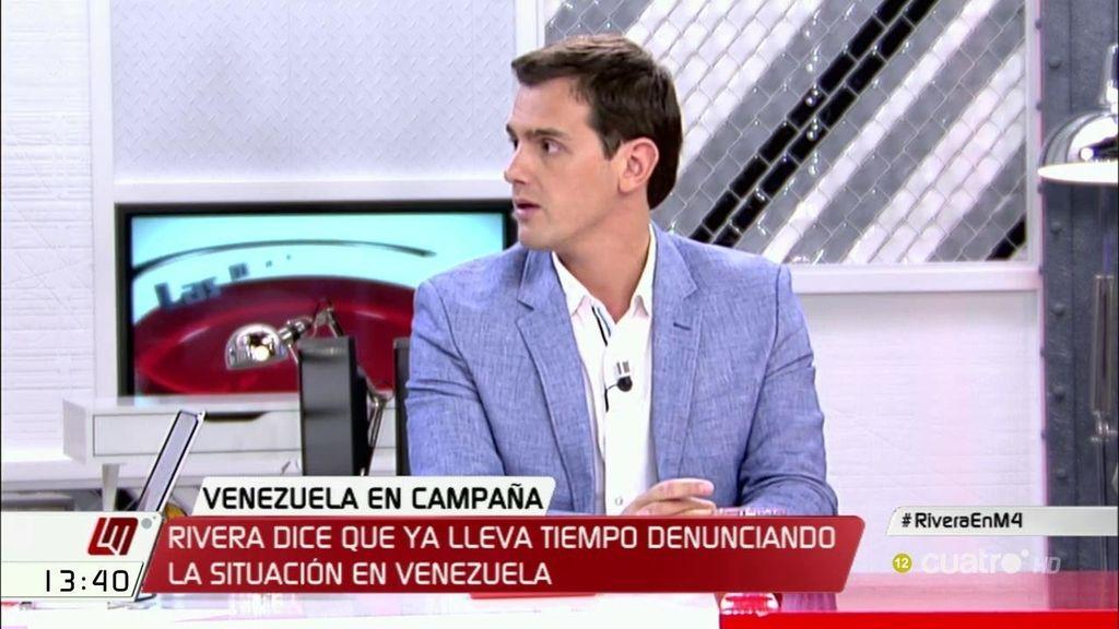 """Albert Rivera, sobre su viaje a Venezuela: """"Que los rivales políticos aprovechen para pensar en los votos no está a la altura"""""""