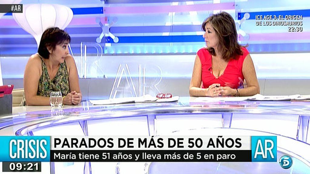 """María tiene 51 años y lleva 5 años en paro: """"Para la sociedad somos invisibles"""""""