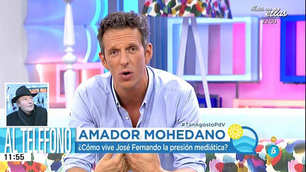 """Amador: """"Perdón tendríamos que pedir algunos pero Rocío es la que se ha alejado"""""""