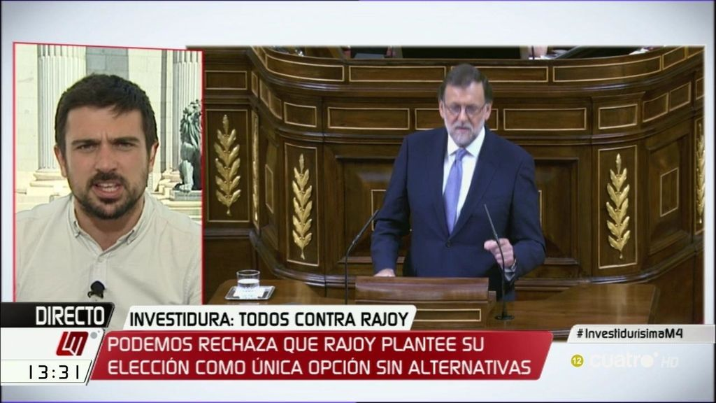 """Ramón Espinar: """"PP y Podemos encarnan proyectos de sociedad contrapuestos"""""""