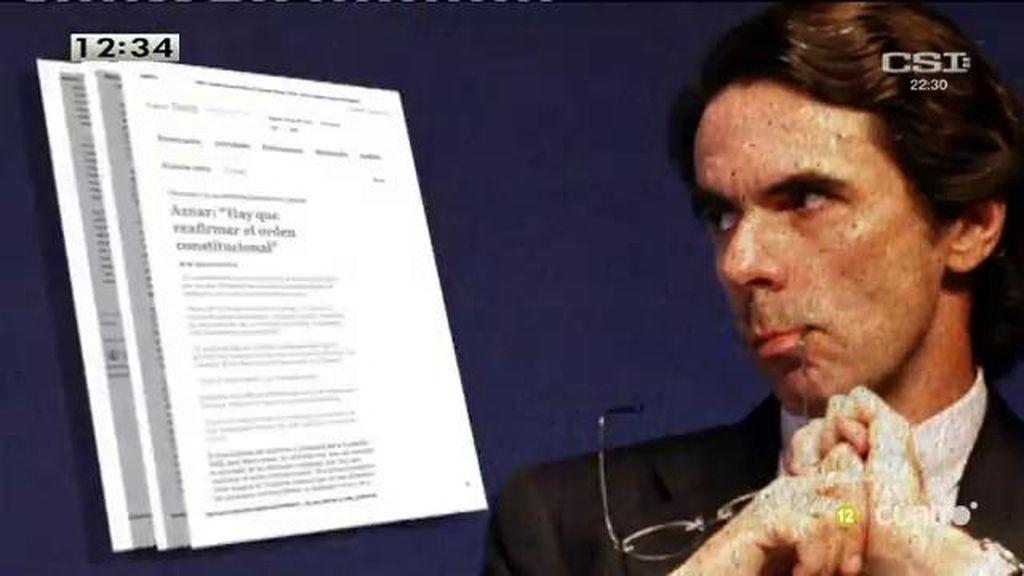 Aznar regaña a Rajoy: Mermado, así es como describe el estado de su partido