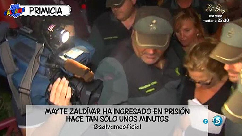 Mayte Zaldívar ingresa en prisión