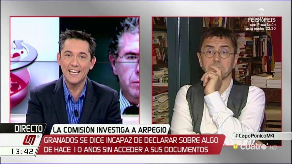 La entrevista de Juan Carlos Monedero, a la carta