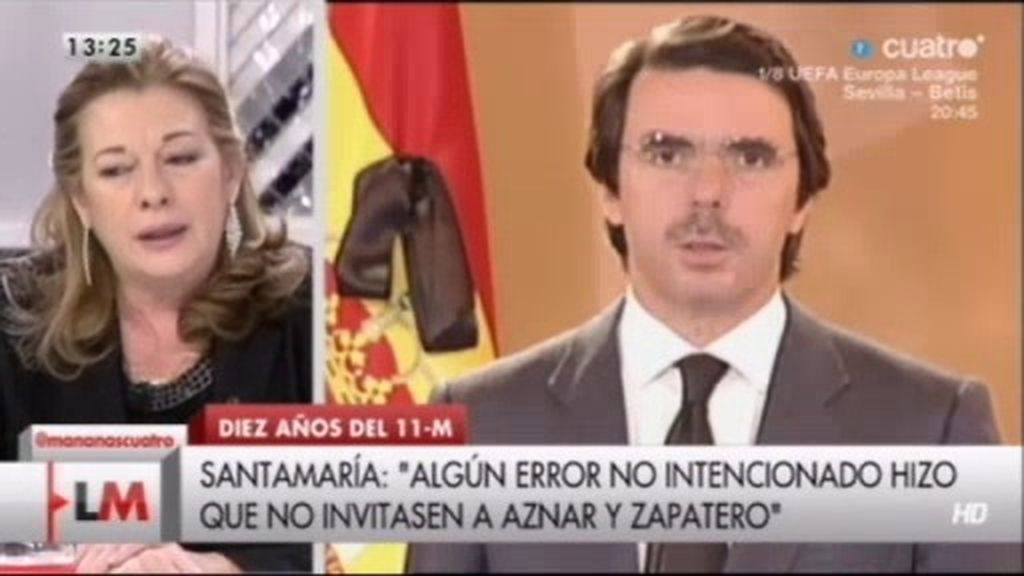 """Pilar Manjón: """"Aznar puso dificultades en compartir espacio conmigo en el funeral"""""""