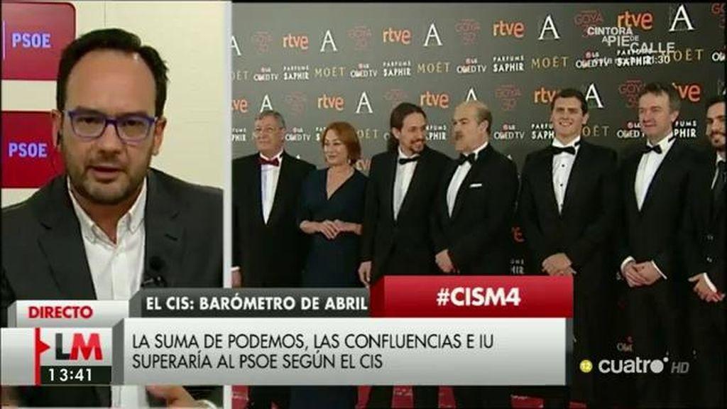 """Antonio Hernando, sobre el CIS: """"Con los datos del voto directo, el PSOE tiene al alcance de la mano superar al PP"""""""