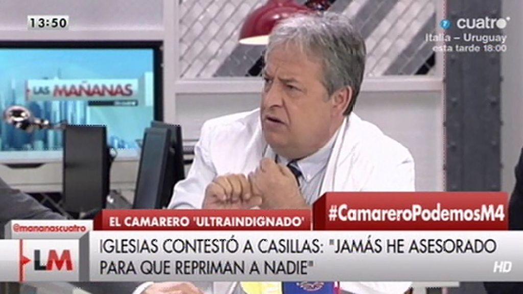 """A. Casillas, a Iglesias y Monedero: """"A mí no me van a contar cuentos de sirena"""""""