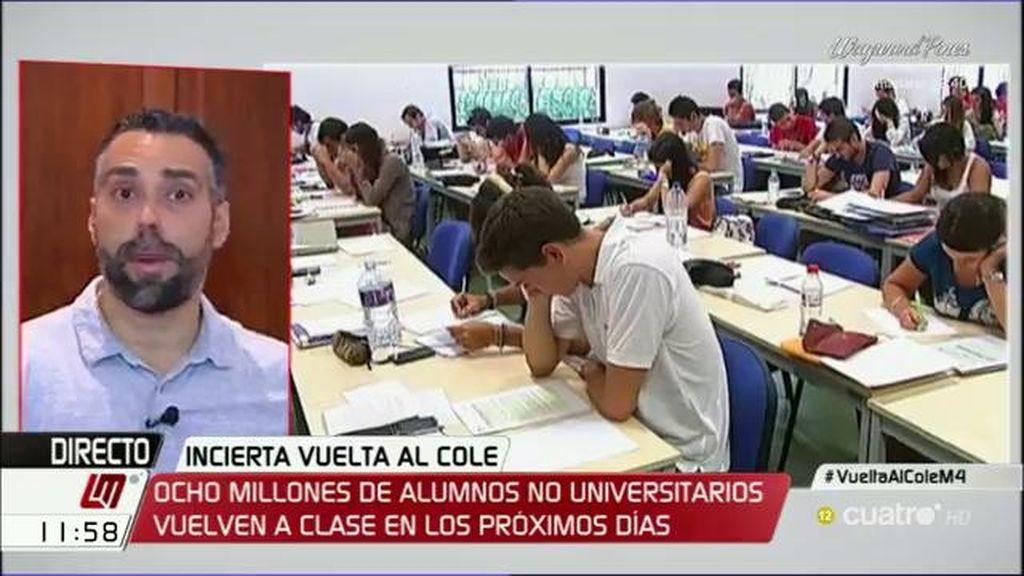 """Facua: """"Un gobierno en funciones no está legitimado para avanzar en políticas de educación cuestionadas por la mayoría"""""""