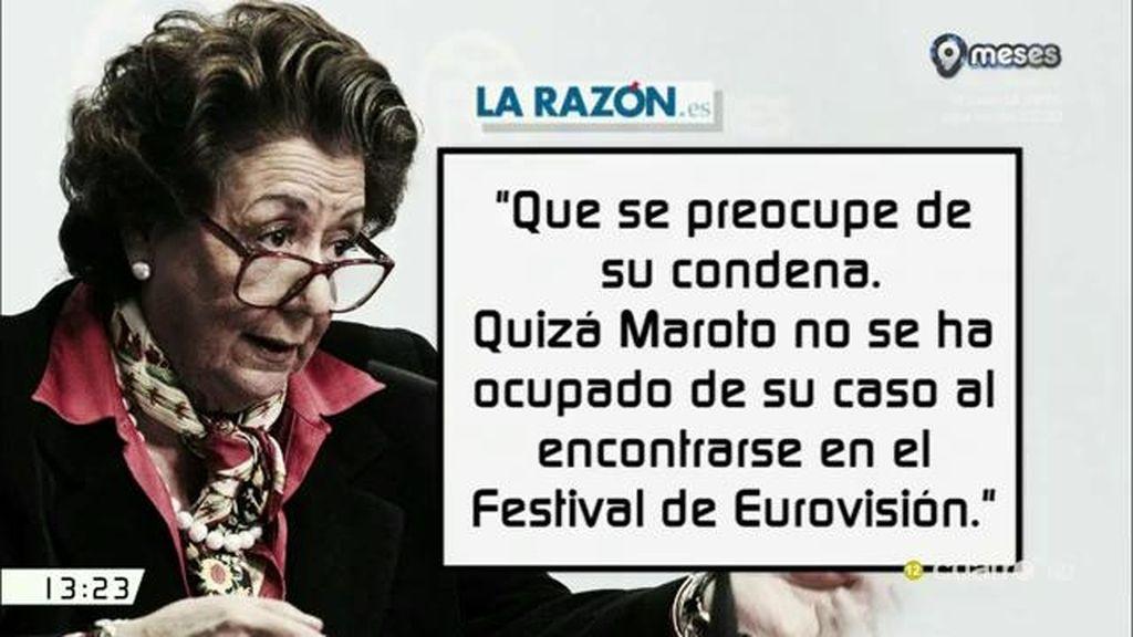 """Rita Barberá, de Maroto: """"Que se preocupe de su condena"""""""