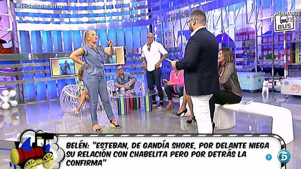 "Belén: ""Esteban confirma su relación con Chabelita detrás de las cámaras"""