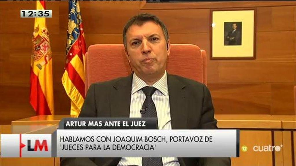 """Joaquim Bosch: """"La querella contra el gobierno catalán está contaminada políticamente desde el principio"""""""