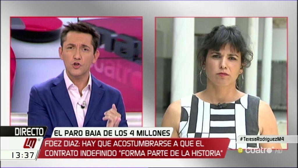 La entrevista de Teresa Rodríguez, a la carta