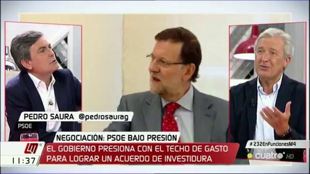 "Saura: ""El PSOE no le pondrá una alfombra roja a Rajoy para que vaya a la Moncloa"""