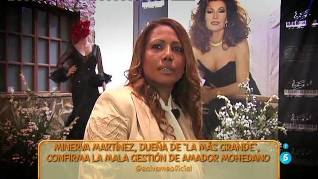 """Minerva Martínez, dueña de 'La más grande': """"La deuda de Amador es de aproximadamente 10.000 o 12.000€"""""""
