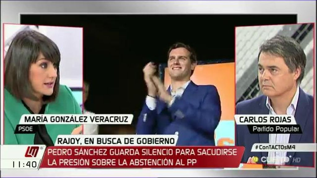 """María González Veracruz: """"La responsabilidad es de Mariano Rajoy y del PP, os toca hacer una mayoría"""""""
