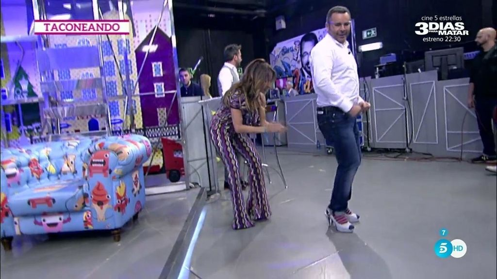 J.J. Vázquez se atreve con los tacones