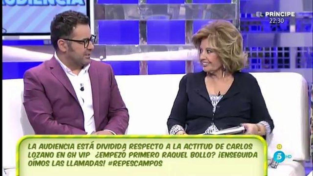 Jorge Javier y Mª Teresa se posicionan en el conflicto entre Raquel Bollo y Carlos Lozano