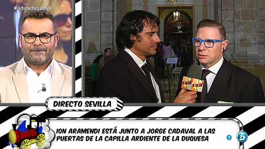"""Jorge Cadaval se despide de la Duquesa: """"Le encantaba que la imitase"""""""