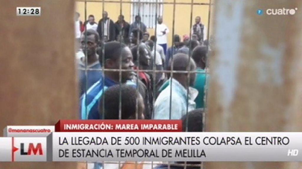 La llegada de 500 inmigrantes colapsa el centro de estancia temporal de Melilla
