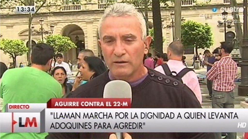 """Cañamero, sobre Aguirre: """"Tendrían que quitarle hasta el nombre de Esperanza"""""""