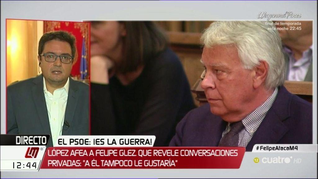 """López, de González: """"Creo que se equivoca en revelar una conversación privada"""""""