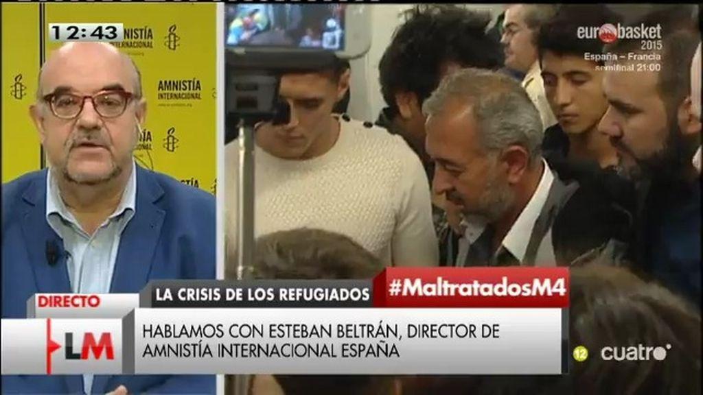 """Esteban Beltrán, director de AI: """"Acoger a los refugiados es una obligación legal"""""""