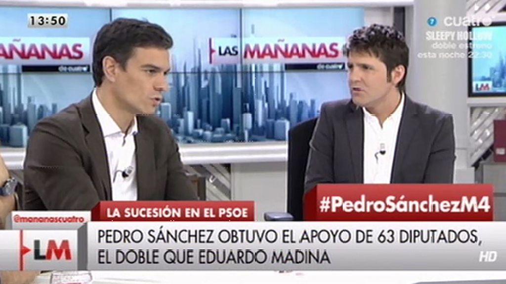 "Pedro Sánchez: ""Felipe González no es casta como dice Pablo Iglesias"""