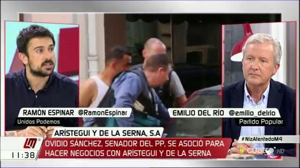 """Espinar, a E. del Río: """"No está bien llamar a la unidad de todos los partidos y polemizar después de las imágenes de un atentado"""""""
