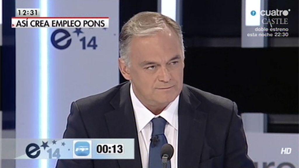 """González Pons: """"7.000 personas encuentran empleo cada día"""""""