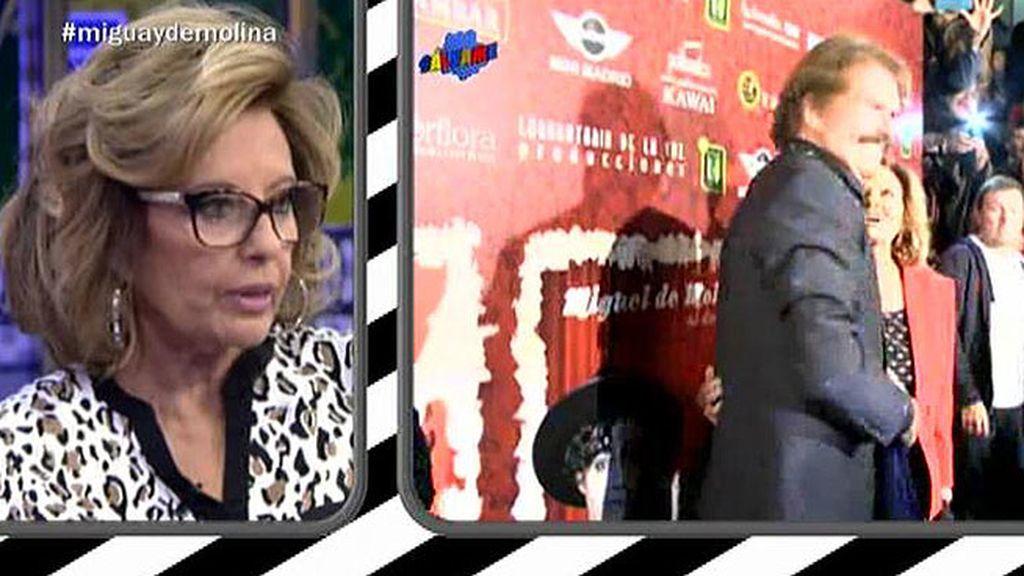 María Teresa y Edmundo Arrocet acuden juntos al estreno de Jorge Javier Vázquez