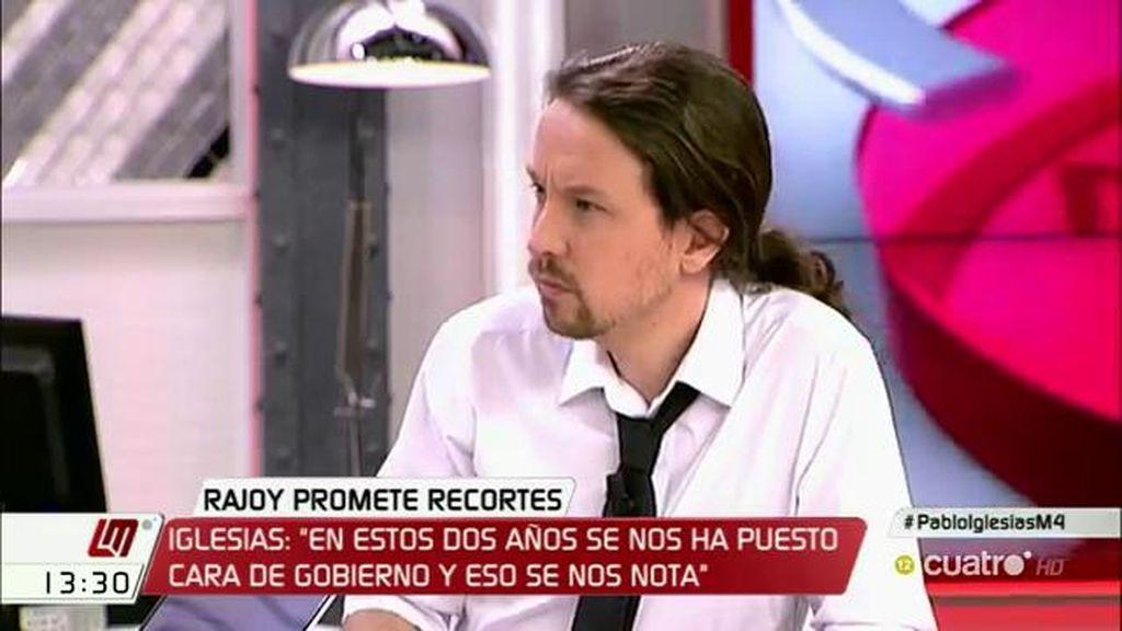 """Pablo Iglesias: """"En estos dos años se nos ha puesto cara de gobierno y se nos nota"""""""