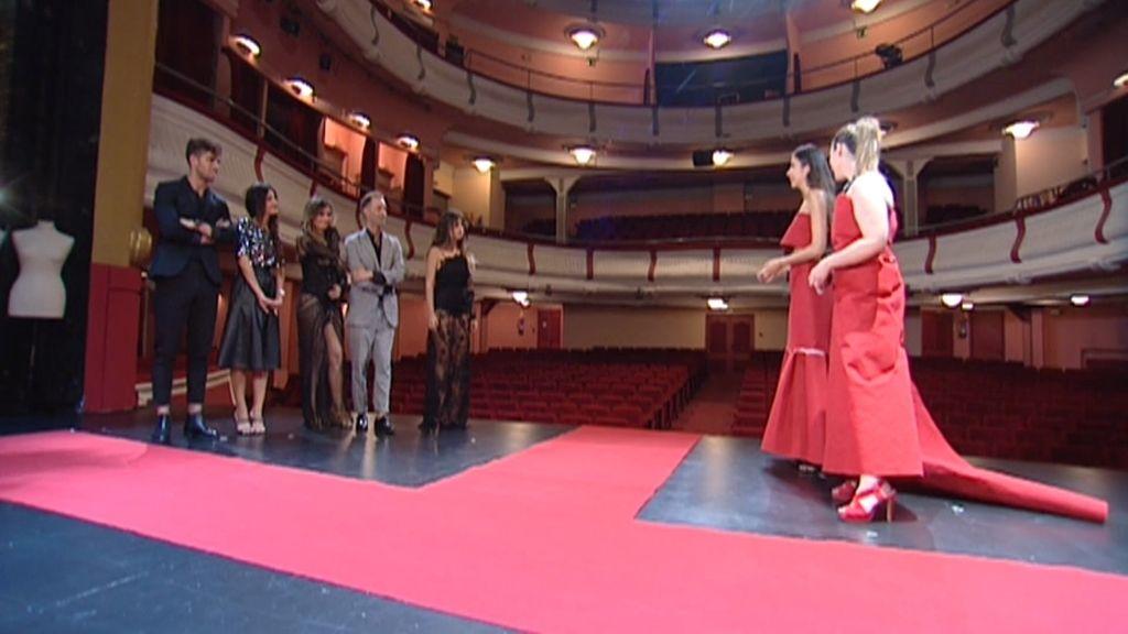 Laura y Alicia se superan creando vestidos de gala con un alfombra roja