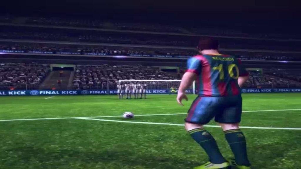 Así fue el golazo de Messi en la final de Champions del videojuego de Piqué