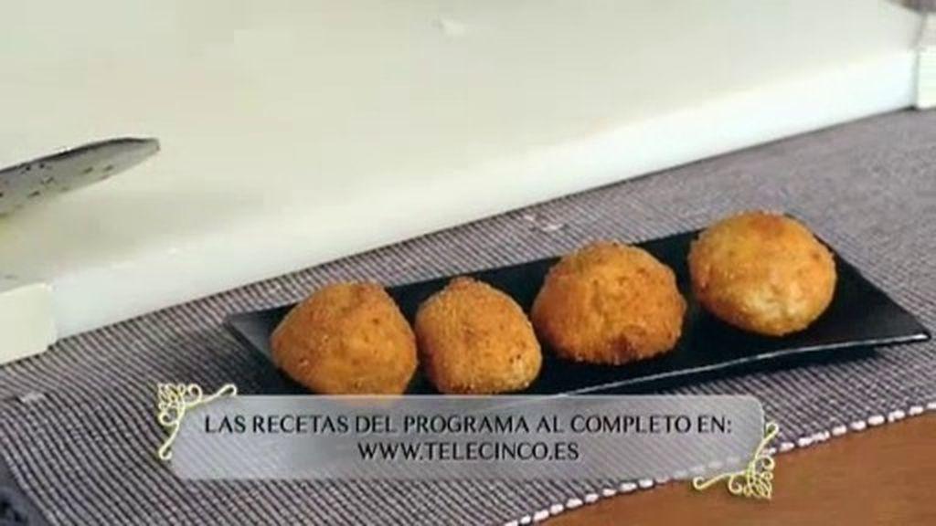 La receta de Mario Sandoval en Pontevedra: Croquetas de percebes