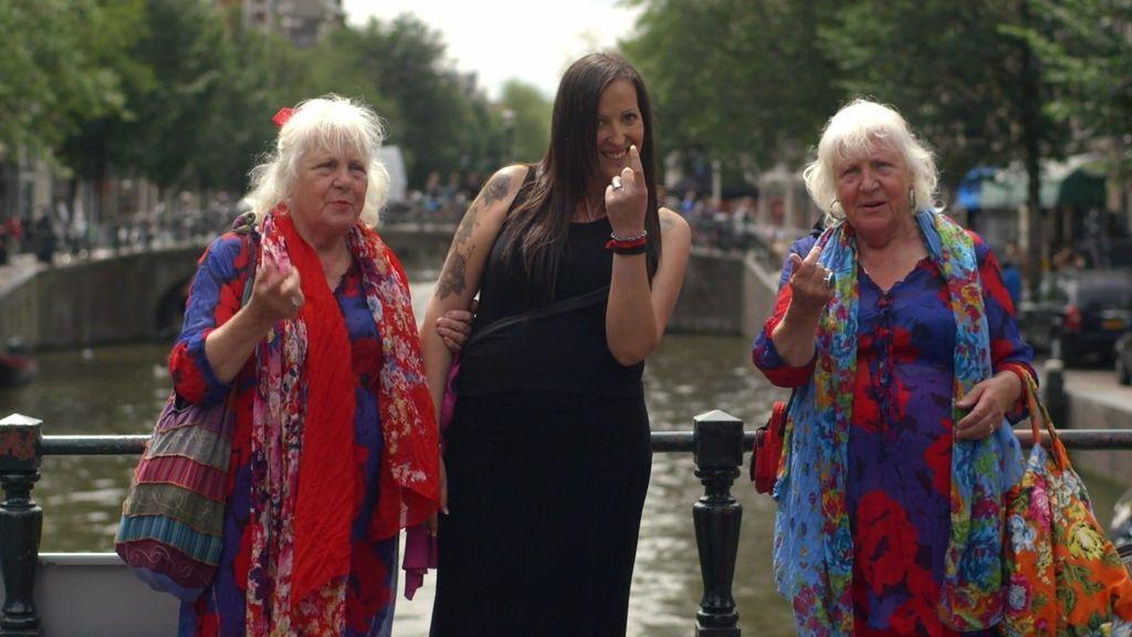 Las hermanas Fokken, unas celebridades en el Barrio Rojo de Ámsterdam