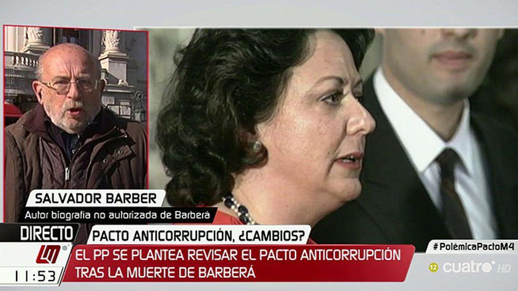 "Salvador Barber: ""Rita Barberá se sentía totalmente abandonada por su partido"""