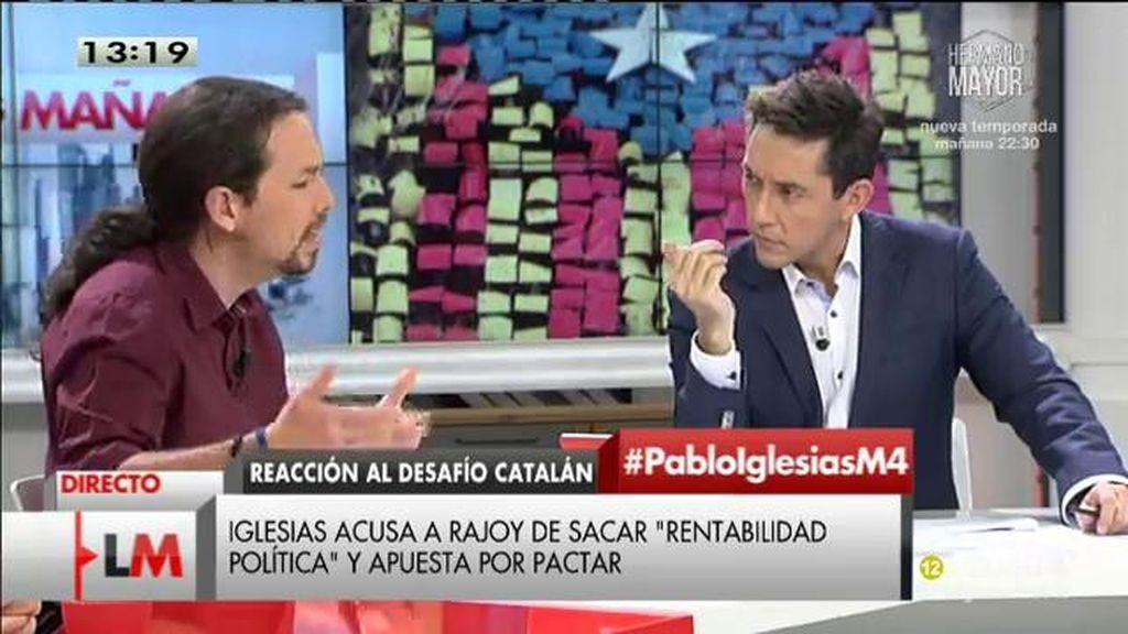 """Pablo Iglesias: """"Si sigue el PP hasta los de Valladolid se van a querer independizar"""""""