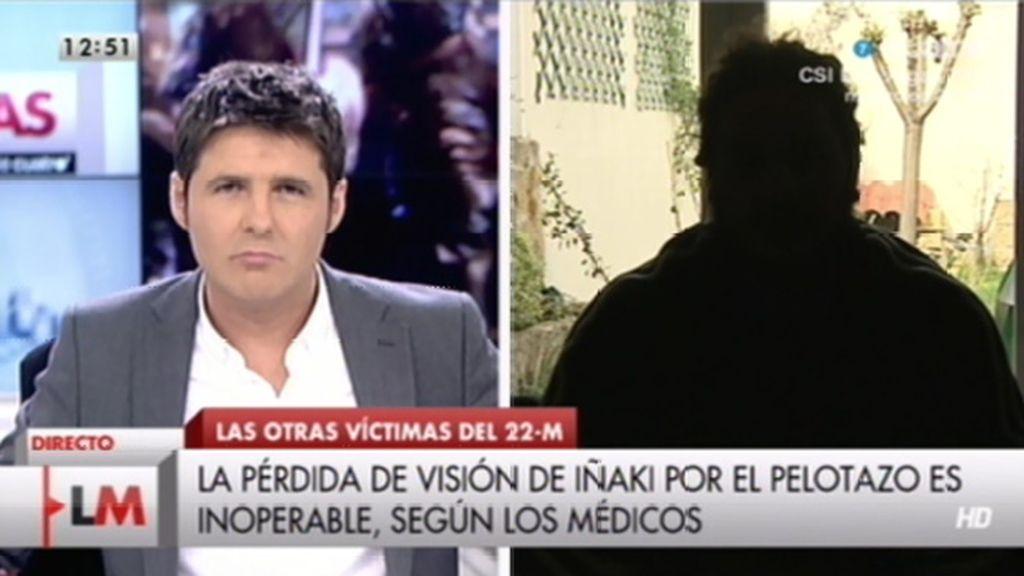 La entrevista a Iñaki, herido en el 22-M
