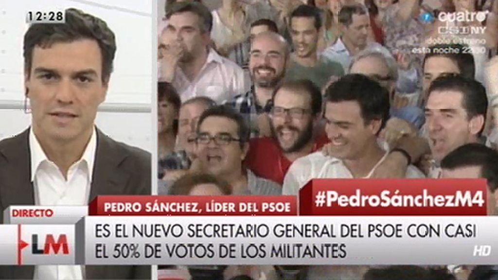 """Pedro Sánchez: """"Hoy hace dos años estaba fuera de la política, no podía imaginar que fuera a ser secretario general del PSOE"""""""