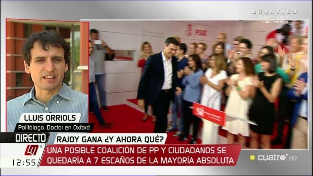 """Lluis Orriols: """"Creo que el Gobierno del Partido Popular es el que los datos electorales indican que debería ser"""""""