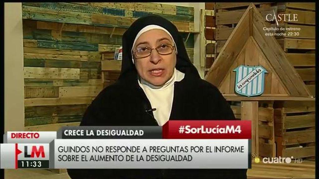 """Sor Lucía: """"Mariano Rajoy ha sembrado vientos y está cosechando tempestades"""""""